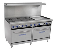Vantage Series Ranges 60 with griddle Bakers Pride
